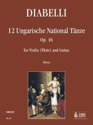 12 Danses Nationales Hongroises Op.16 DIABELLI Partition laflutedepan