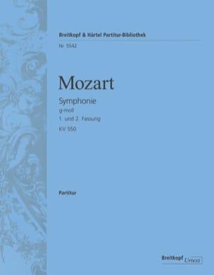 Symphonie n° 40, Kv 550 - Conducteur MOZART Partition laflutedepan