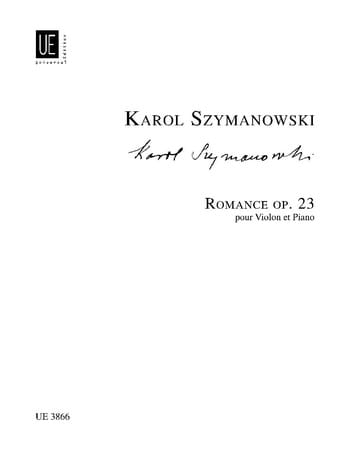 Romance op. 23 - SZYMANOWSKI - Partition - Violon - laflutedepan.com
