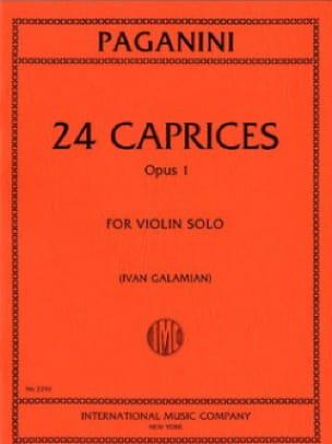 24 Caprices op. 1 Galamian - PAGANINI - Partition - laflutedepan.com