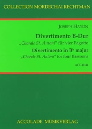 Divertimento en Sib Majeur, «Choral St. Antoni» - laflutedepan.com