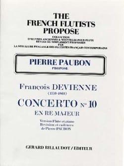 Concerto n° 10 en ré majeur - Flûte piano DEVIENNE laflutedepan