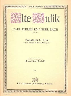 Sonata G-Dur a 2 violini e basso Wq 157 laflutedepan