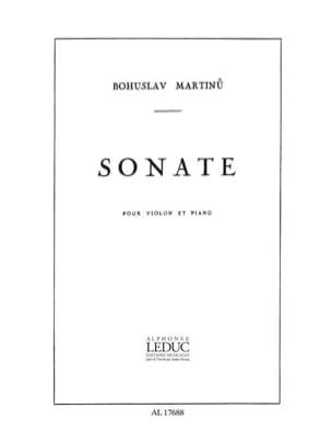 Bohuslav Martinu - Sonate - Violin - Partition - di-arezzo.co.uk