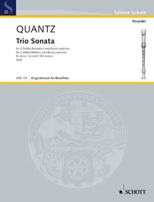 Trio Sonata d-moll -2 Altblockflöten u. Bc QUANTZ laflutedepan