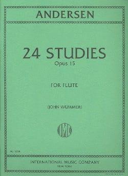 24 Studies op. 15 ANDERSEN Partition Flûte traversière - laflutedepan