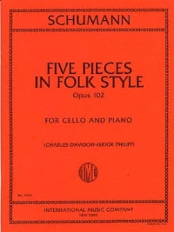 SCHUMANN - 5 Pieces in Folk Style op. 102 - Partition - di-arezzo.co.uk