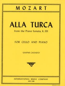 Alla Turca from Piano Sonata KV 331 MOZART Partition laflutedepan