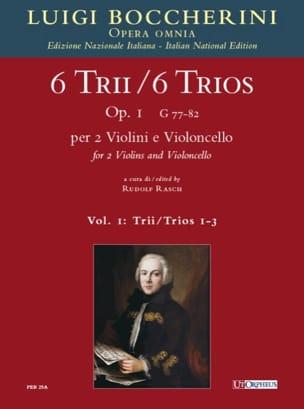 6 Trios Op.1 - Volume 1 BOCCHERINI Partition Trios - laflutedepan