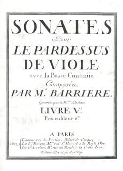 Sonates pour le Pardessus de Viole - Viole et Basse continue laflutedepan