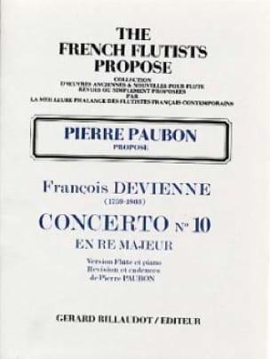 Concerto n° 10 en ré majeur - Flûte piano - laflutedepan.com