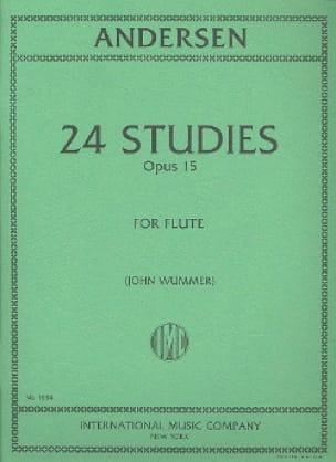 24 Studies op. 15 - ANDERSEN - Partition - laflutedepan.com