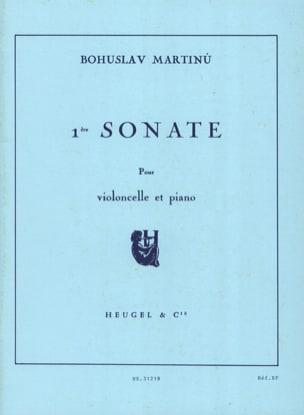 Sonate n° 1 - Violoncelle MARTINU Partition Violoncelle - laflutedepan