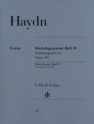 Quatuors à cordes volume IV, op. 20 HAYDN Partition laflutedepan