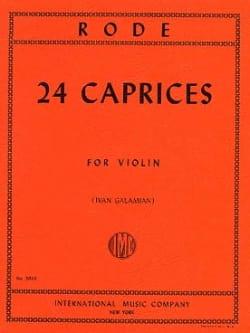 24 Caprices Galamian Pierre Rode Partition Violon - laflutedepan