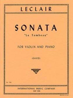 Sonate Le Tombeau - Violon LECLAIR Partition Violon - laflutedepan