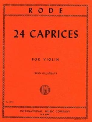 24 Caprices Galamian - Pierre Rode - Partition - laflutedepan.com