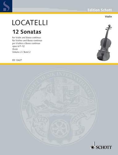 12 Sonates Vol.2 Op.6 N°7-12 - LOCATELLI - laflutedepan.com