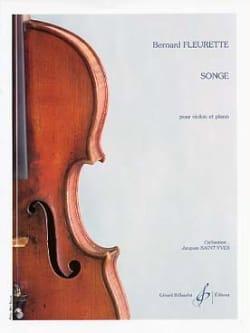 Songe Bernard Fleurette Partition Violon - laflutedepan