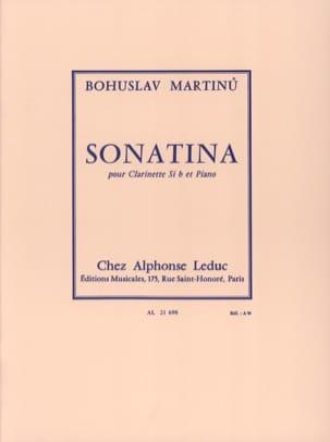 Sonatina pour clarinette MARTINU Partition Clarinette - laflutedepan