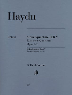 HAYDN - String quartets volume V, op. 33 Russian Quartets - Partition - di-arezzo.com
