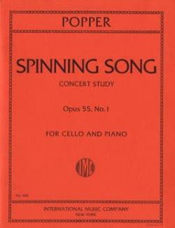 Spinning Song op. 55 n° 1 David Popper Partition laflutedepan