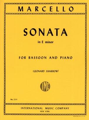 Sonata In E Minor Benedetto Marcello Partition Basson - laflutedepan