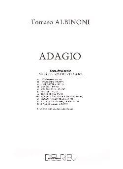 Adagio -Violon violoncelle piano ALBINONI Partition laflutedepan