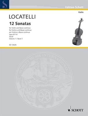 12 Sonates Volume 1 Op.6 N°1-6 LOCATELLI Partition laflutedepan