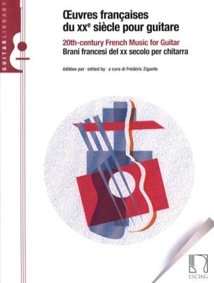 Oeuvres françaises du 20e Siècle pour Guitare Partition laflutedepan