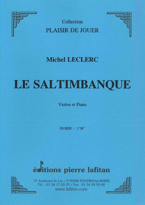 Le Saltimbanque - Michel Leclerc - Partition - laflutedepan.com
