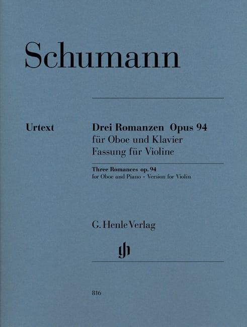 Trois Romances op. 94 pour hautbois et piano - laflutedepan.com