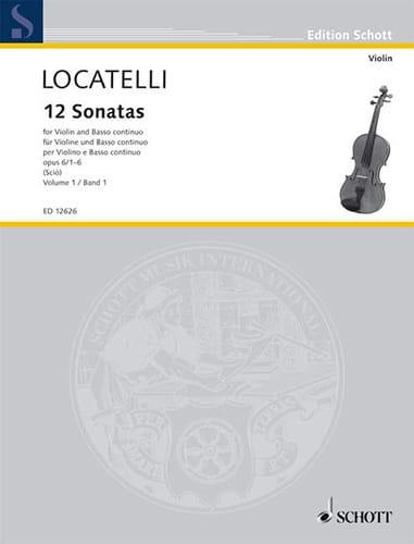 12 Sonates Volume 1 Op.6 N°1-6 - LOCATELLI - laflutedepan.com