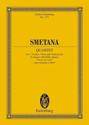 Streich-Quartett E-Moll N° 1 SMETANA Partition laflutedepan