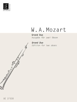 Grand Duo - 2 Oboen MOZART Partition Hautbois - laflutedepan