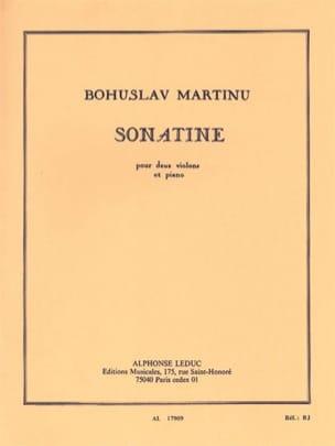 Sonatine pour 2 violons et piano MARTINU Partition laflutedepan