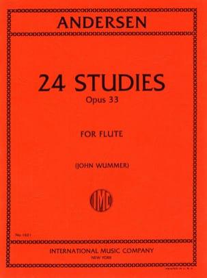 24 Studies op. 33 - ANDERSEN - Partition - laflutedepan.com