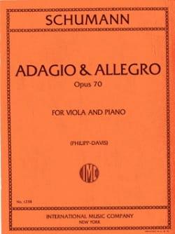 Adagio & Allegro op. 70 SCHUMANN Partition Alto - laflutedepan