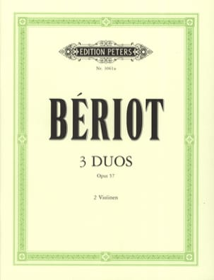 3 Duos concertants op. 57 BÉRIOT Partition Violon - laflutedepan
