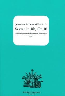 Sextet In Bb, Op. 18 - Dixtuor A Vents BRAHMS Partition laflutedepan