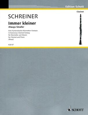 Immer Kleiner Adolf Schreiner Partition Clarinette - laflutedepan