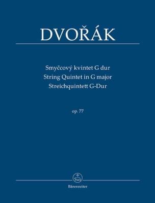 Quintette à Cordes en Sol Maj., op. 77 DVORAK Partition laflutedepan