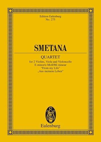 Streich-Quartett E-Moll N° 1 - SMETANA - Partition - laflutedepan.com