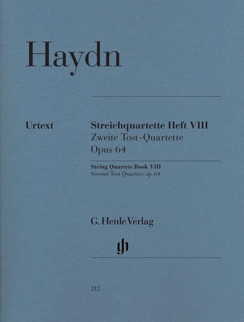 Quatuors à cordes volume VIII, op. 64 Deuxièmes Quatuors Tost - laflutedepan.com