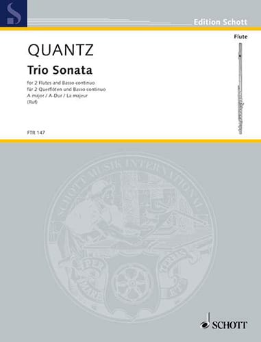 Triosonate A-Dur - 2 Flöte u. Bc - QUANTZ - laflutedepan.com