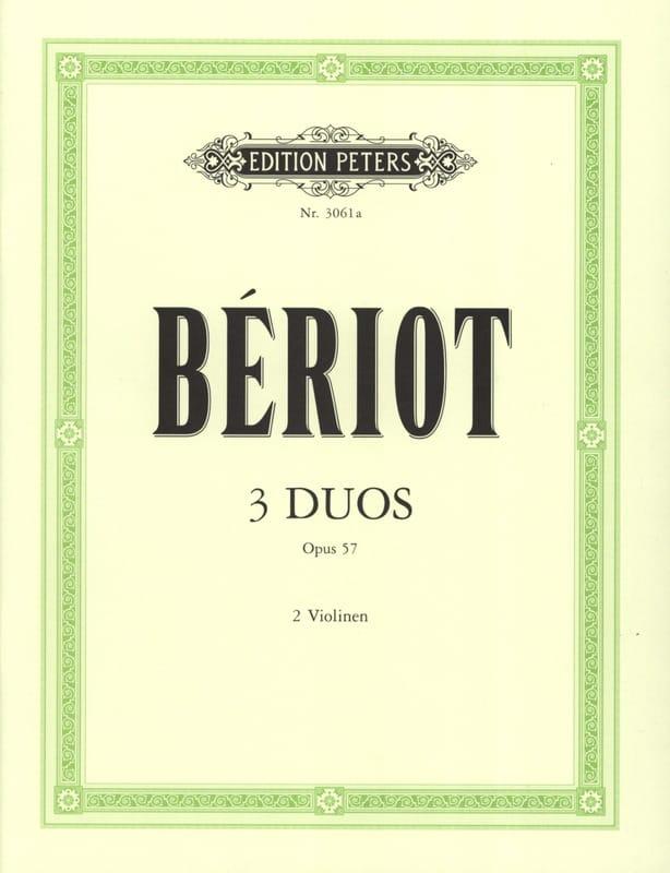 3 Duos concertants op. 57 - BÉRIOT - Partition - laflutedepan.com