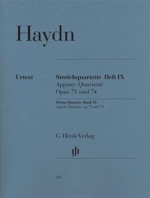 Quatuors à cordes volume IX, op. 71 et 74 Quatuors Apponyi laflutedepan