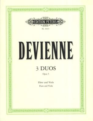 François Devienne - 3 Duos Op. 5 - Flute and Viola - Partition - di-arezzo.com