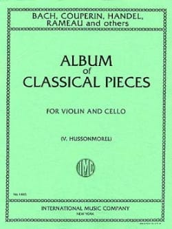 Album of classical pieces - Violin cello V. Hussonmorel laflutedepan
