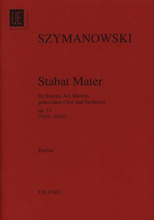 Stabat Mater op. 53 -Partitur SZYMANOWSKI Partition laflutedepan